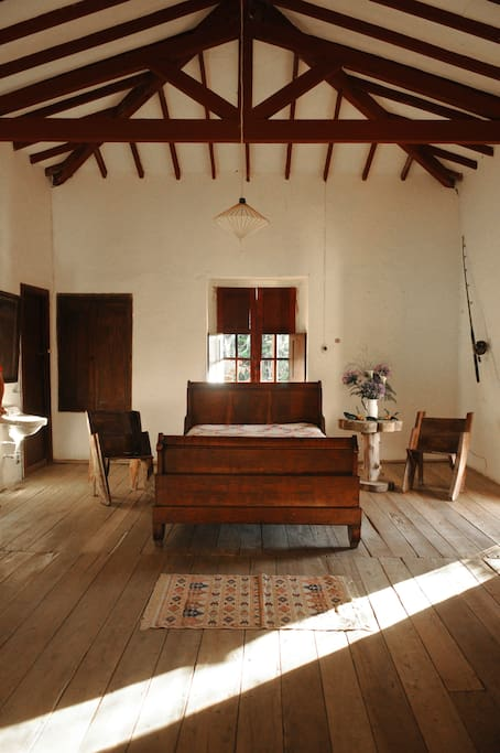 This is a picture of the main room of the house, where you would be staying.