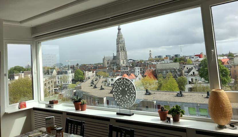 Appartment with great view in the city centre! - Breda - Lägenhet