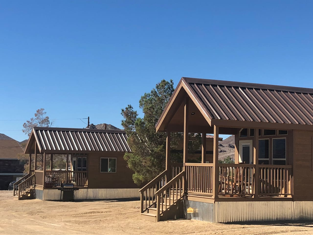 Death Valley Getaway Cabins is a combined listing of Wild West #1 and Wild West #2.   A great option for large groups up to 12.