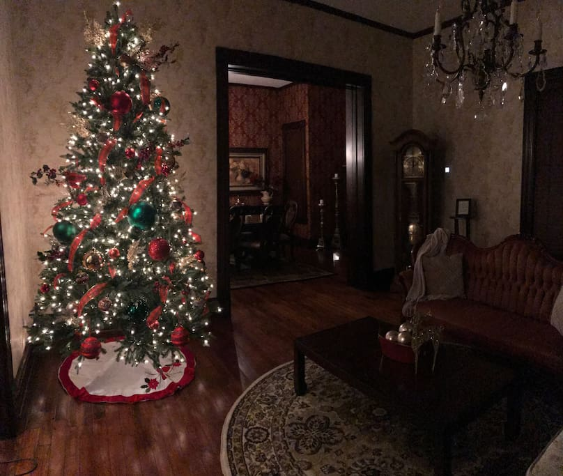 A hint of Christmas throughout the house.  A home away from home!