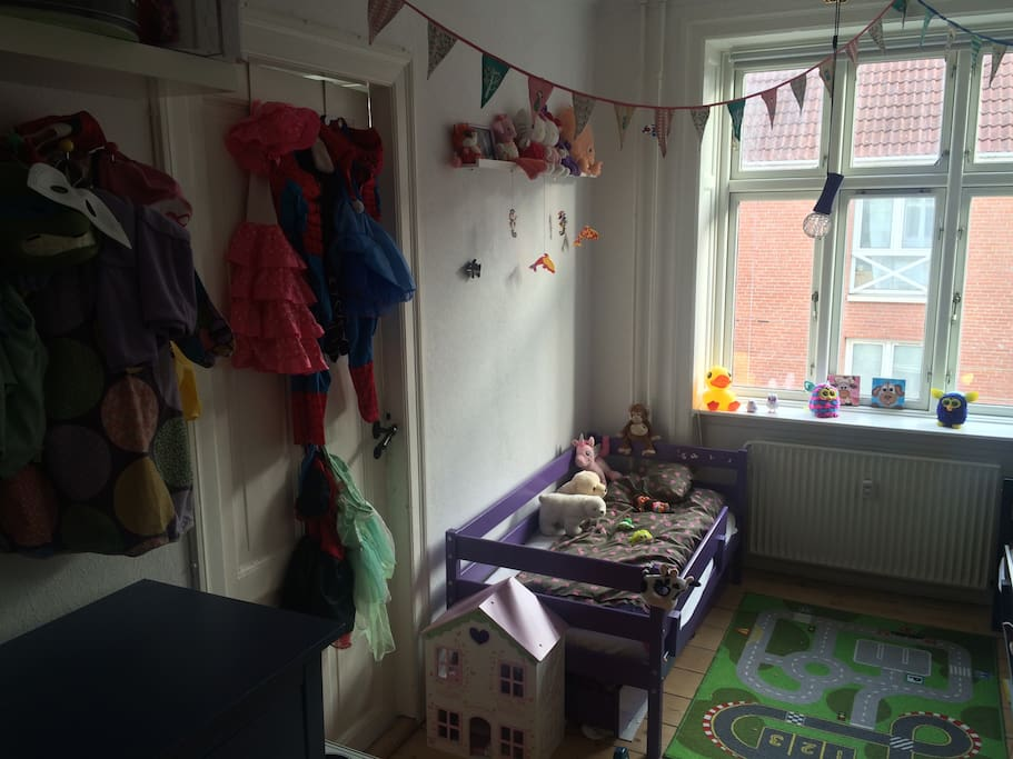 We have twins, and This is their bedrom. Lots of toys:)