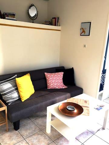 living-room, kitchen