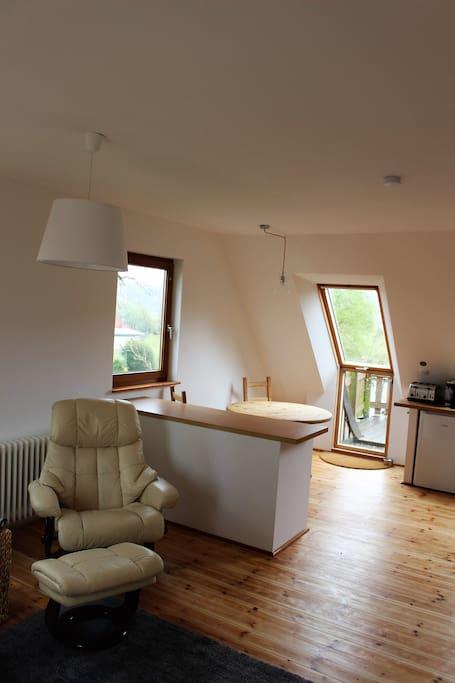 Ausgang von der Küche zum Balkon