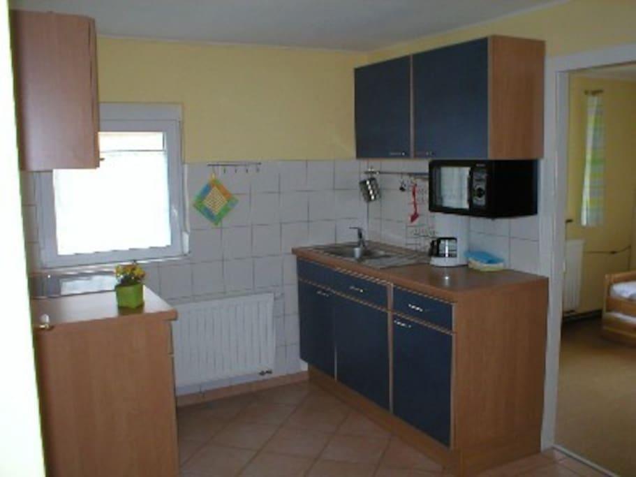 Einbauküche mit Spülmaschine u. Mikrowelle