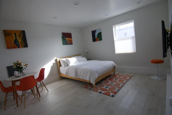 Clean Modern Guest Suite: Spacious &  Private