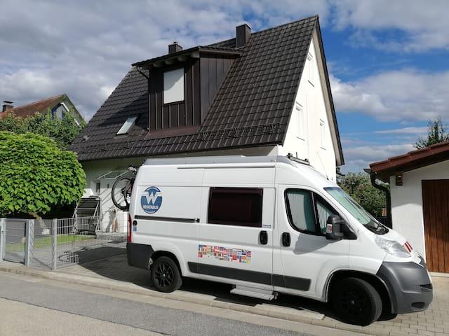 Ruhiger Wohnmobilstellplatz mit Ver- und Ents.