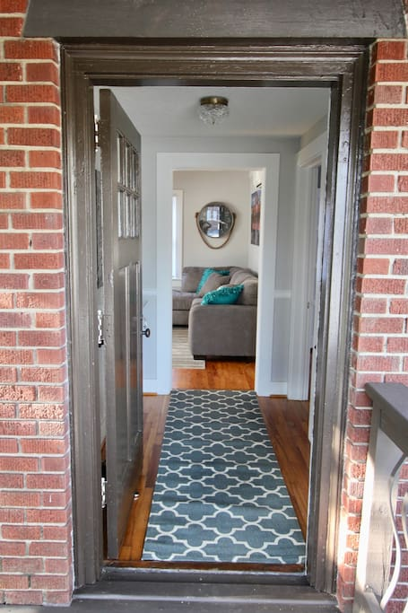 Entry way. Has a key lock box for easy entry.