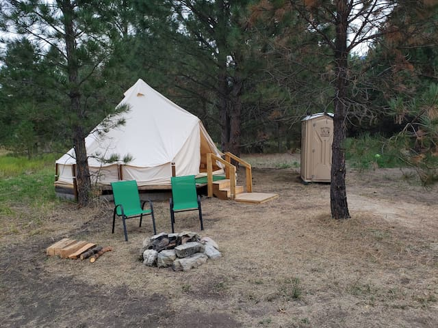 The pines canvas yurt TeePee