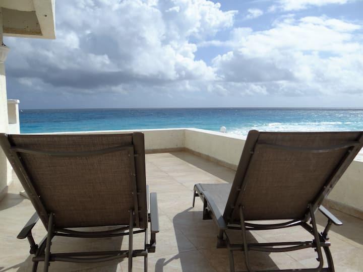 Big Sunny Terrace Direct On Beach