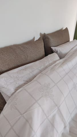 All bed with Luxury bed linen.
