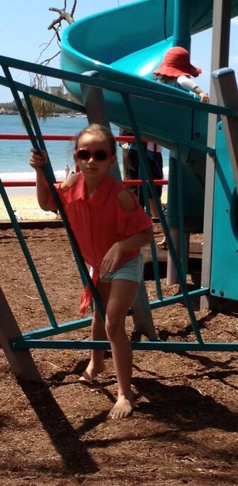 Close to playground at beach