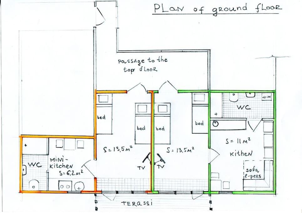 План нижнего этажа(Ground-floor plan)