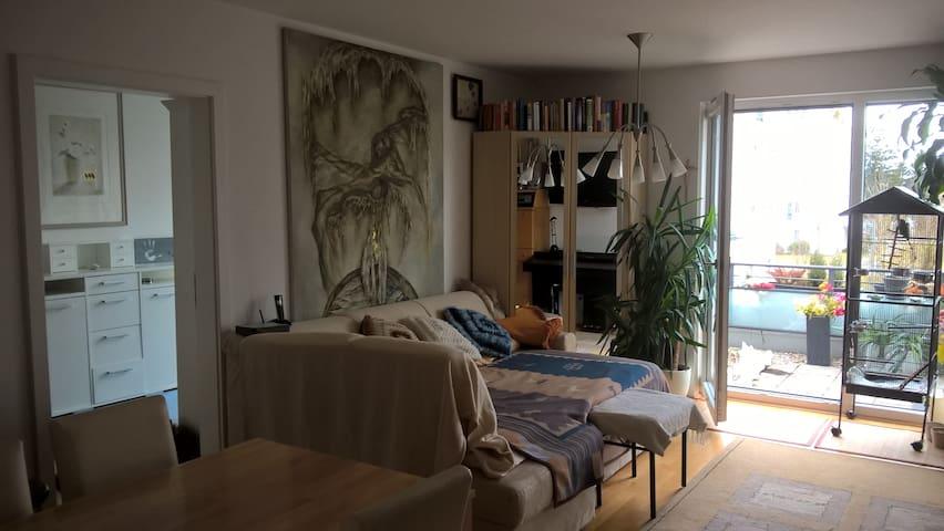 Zimmer mit Dachterrasse im Park - Munic
