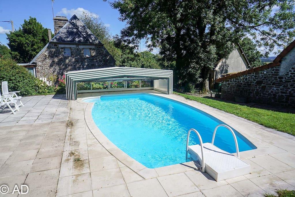 The pool (heated in season)