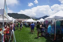 Walk to town events - like one of the 4 markets of the summer