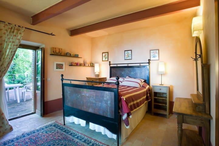 Bedroom 7 has a queen size bed and en suite bathroom with shower.
