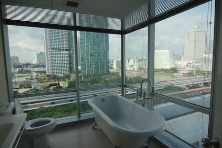BTS/Sathorn / River/Stunning view - Bangkok - Apartment