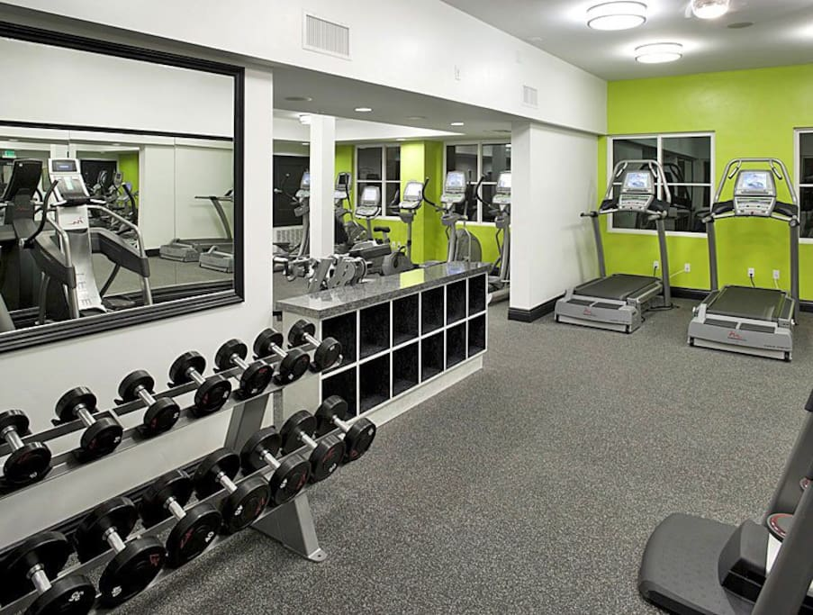 The gym in my building.