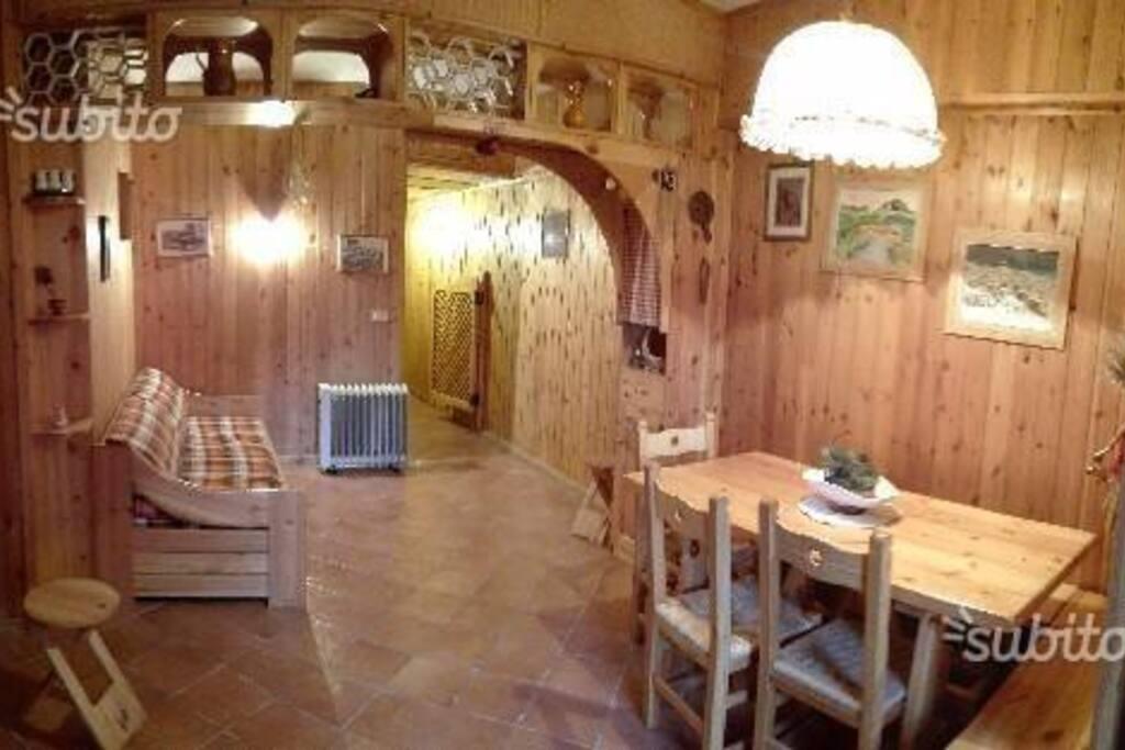 Living- cucina a scomparsa