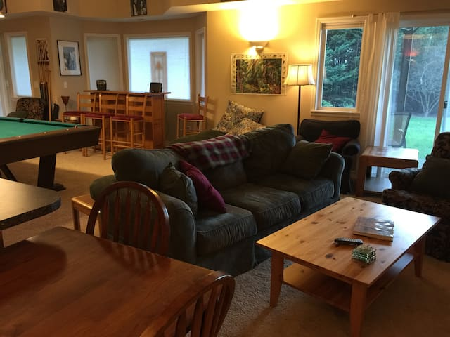 Spacious One Bedroom Apt with pool table - Bainbridge Island - Daire