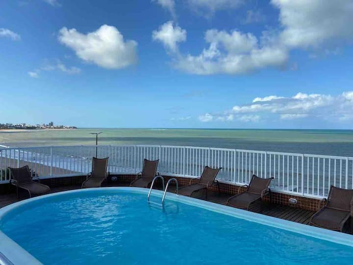 Flat completo na Beira Mar