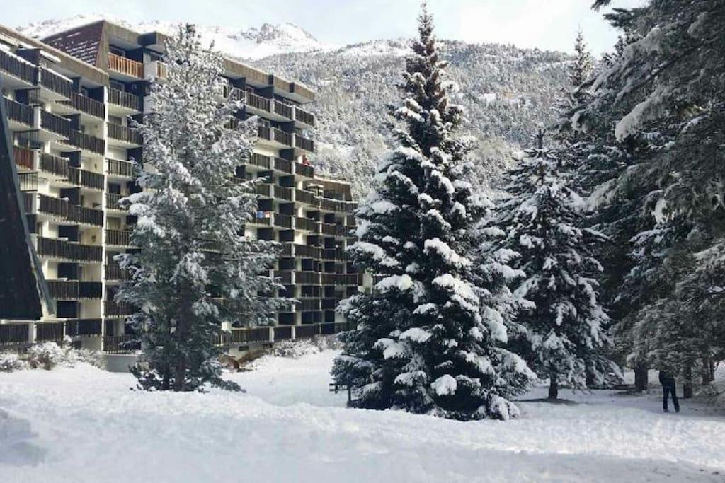 jardin avec retour en ski possible selon meteo