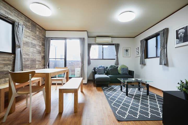 Family House @Ikebukuro 12Guests/ Free Parking!