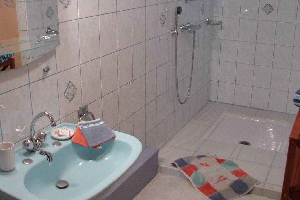 Une immense salle de bain pour toute la famille !