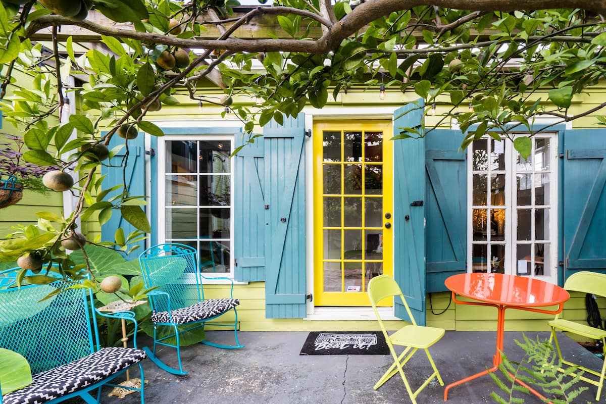 Bask in the Tranquil Courtyard of Bywater Guest House
