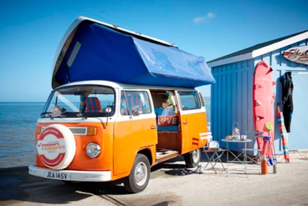 Mr Orange: a six berth 1979 Classic Campervan