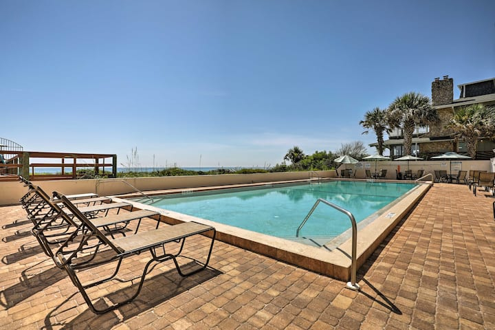 Oceanfront St Augustine Condo w/Pool-Walk to Beach