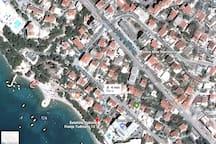 Studio Chappy Makarska - great location & sea view
