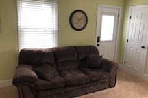 Couch in bedroom