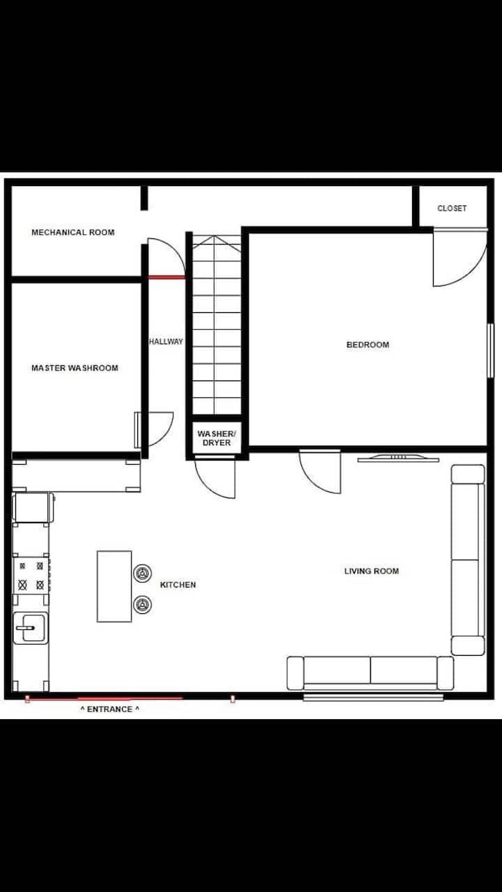 NEWLY MODERN MAIN FLOOR SUITE W/ PRIVATE ENTRANCE