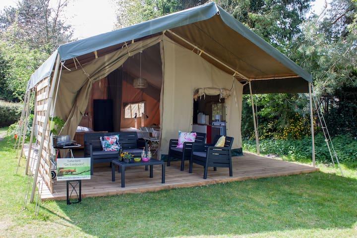 Verwarmde Glamping Safaritent ideaal voor kids!