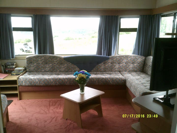 Self Catering caravan with a view of The Storr.
