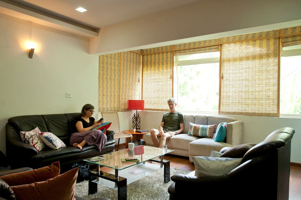 Unwind on your own or interact with us and our guests: Your choice :)