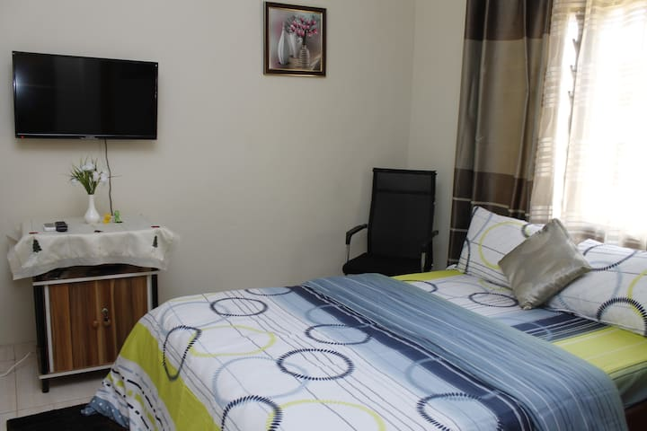 SECOND BEDROOM: Very cozy room! You will never want to leave your bed! Airconditioned with flat screen and free wifi.