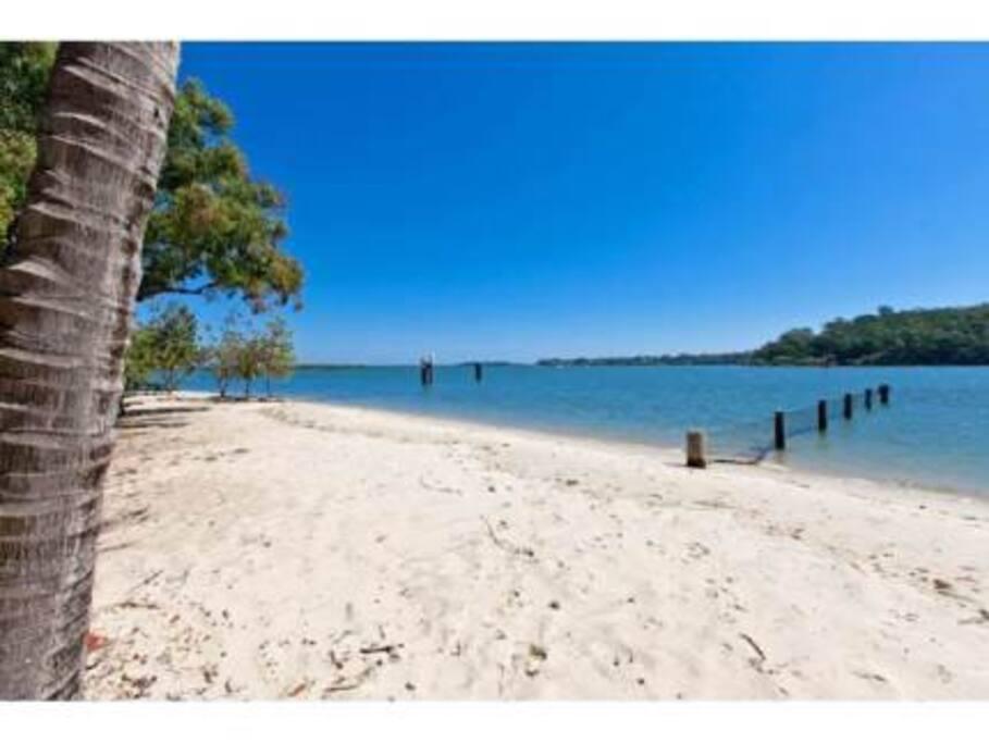 Karra beach and swimming enclosure
