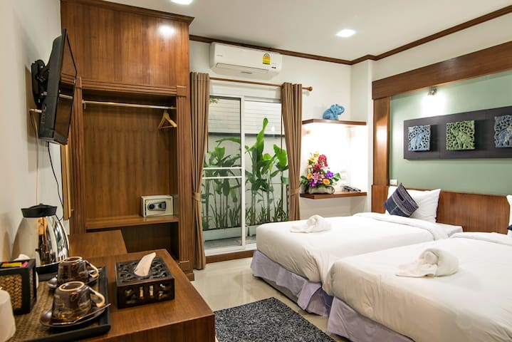 Comfy Twin Room in Chiang Mai!