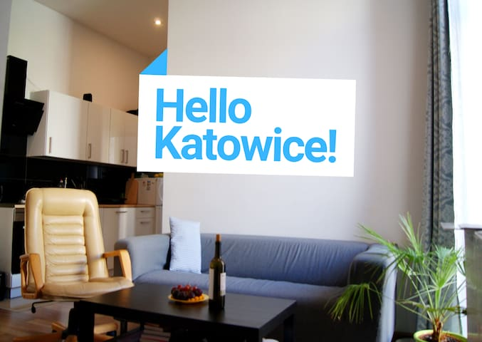 Stay for 1 or 2 people in the center of Katowice:)