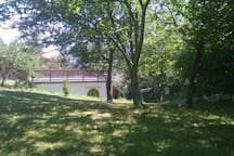 Ia terrazza solarium vista dal bosco