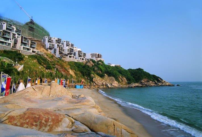 深圳万科17英里纯海景LOFT豪宅  独享私家沙滩的度假时光 - Shenzhen Shi - Huoneisto