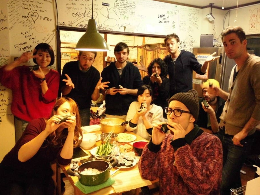 Japanese traditional food party