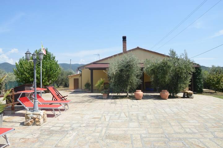 Casa Alexandra 2 km dal mare villetta con giardino