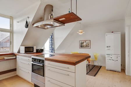 Nice penthouse in Vesterbro, near Meat-packing - Copenhague