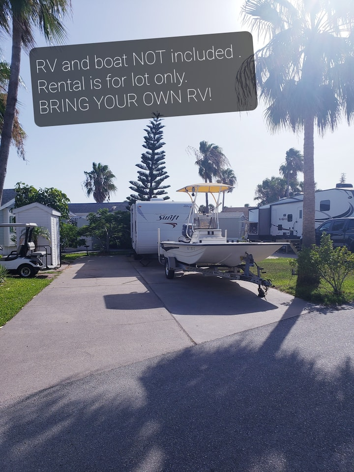Spacious RV Lot w Storage Room. LOT ONLY