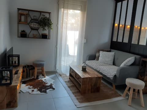 Studio Cocooning à Grabels Wifi Netflix Terrasse