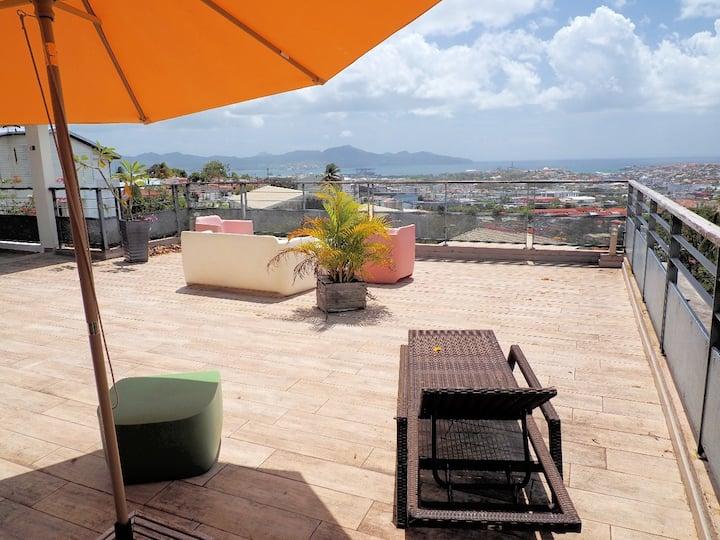 Terrasse et vue exceptionnelles pour ce duplex !