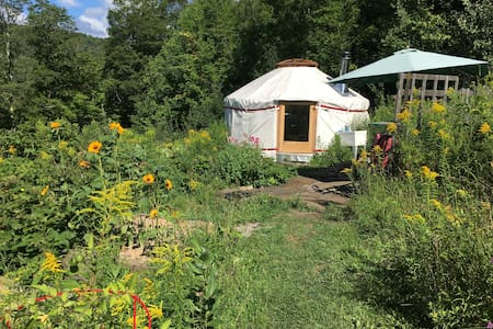 4 season Upper Yurt Stay on a VT Small Homestead